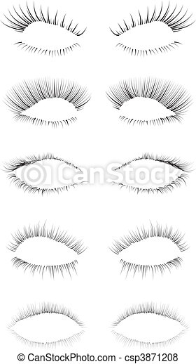 Eyelashes Set - csp3871208