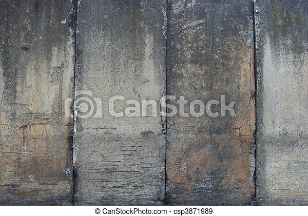 ranked ranged dirty heavily worn industrial large vertical concrete slabs                                                               - csp3871989