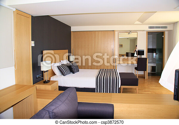 Typical hotel room - deluxe - csp3872570