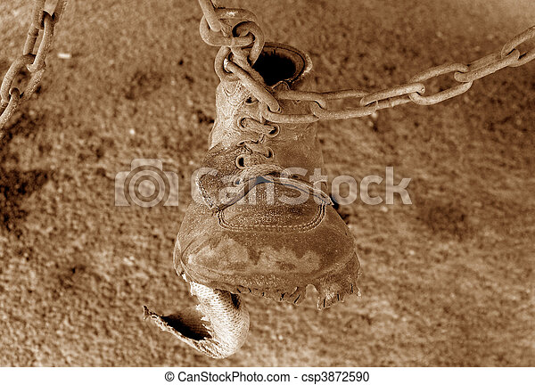 Shoe on Chain Sepia