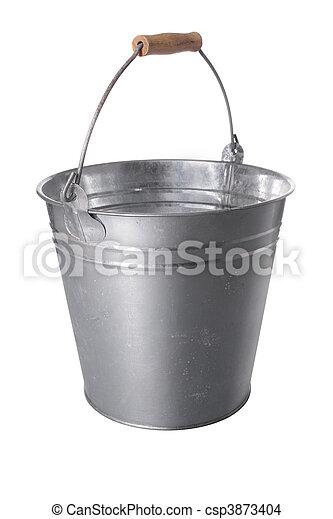 galvanized metal bucket - csp3873404