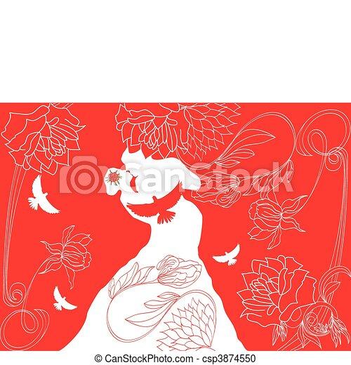 Wedding background  - csp3874550
