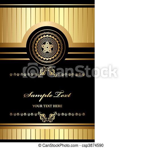 Gold vintage frame  - csp3874590