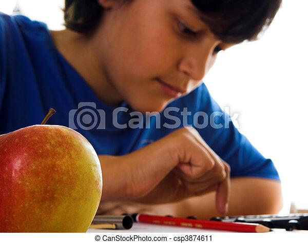 Apple and calculator - csp3874611