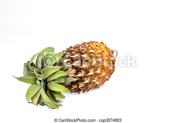 Isolated ripened fresh pineapple - csp3874803