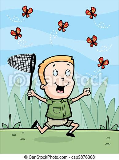 Chasing Butterflies - csp3876308