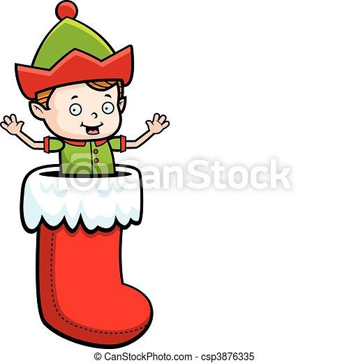 Elf Stocking - csp3876335