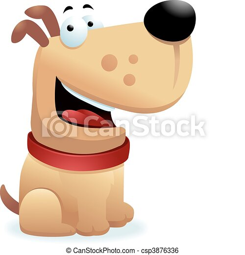 Dog Smiling - csp3876336