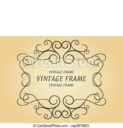 Swirl vintage frame - csp3876821