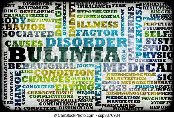 Desenho de bulimia nervosa comer desordem como um conceito csp3876934 pesquisar - Como tratar la bulimia en casa ...