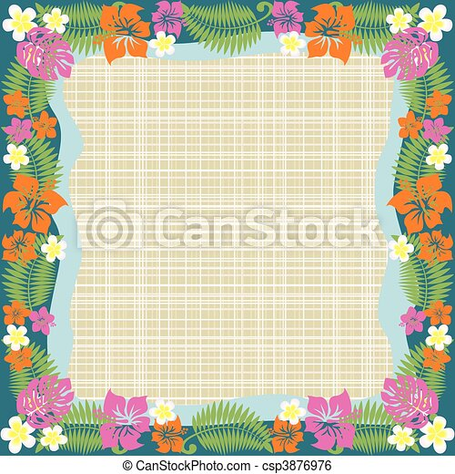 Abstract tropical frame - csp3876976