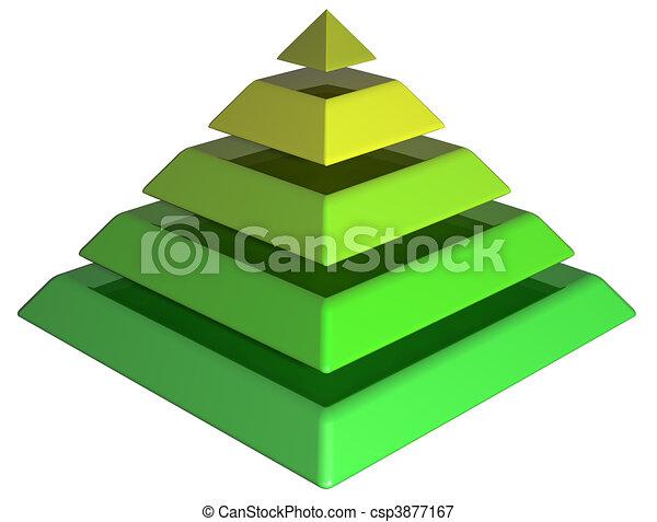 Layered Green Pyramid - csp3877167