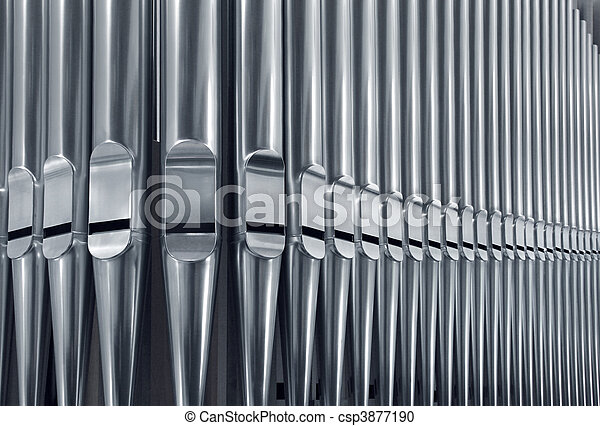 Organ pipes close - csp3877190