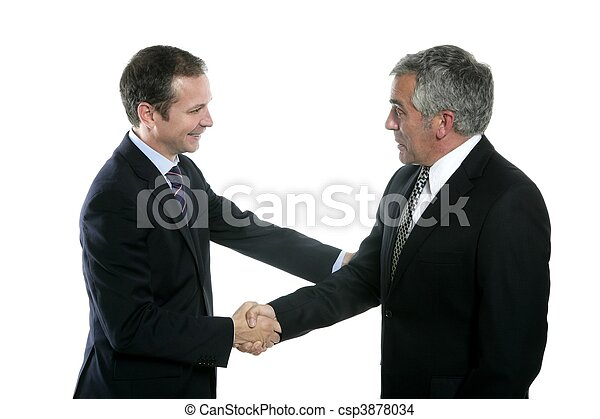 adult businessman handshake expertise portrait - csp3878034