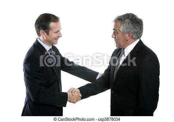 adult businessman handshake expertise portrait - csp3878034