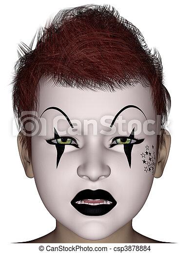 stock foto von halloween maske gesicht 3d geleistet. Black Bedroom Furniture Sets. Home Design Ideas