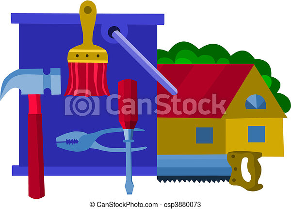 collection of work tools, vector illustration -1 - csp3880073