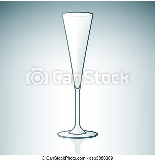 White Wine Glass - csp3880389