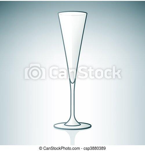 White Wine Glass - csp3880389