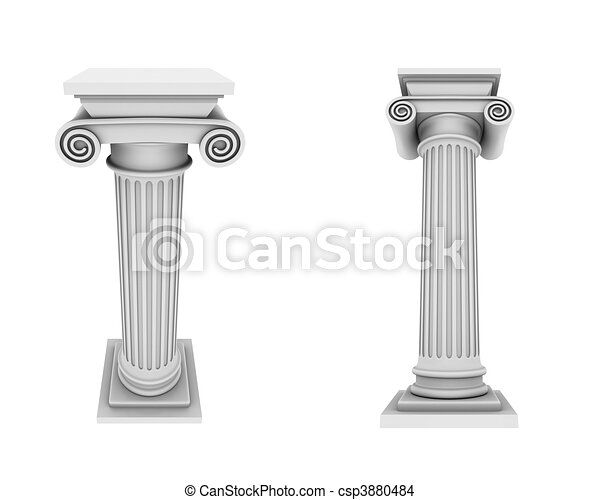 Marble columns two views  - csp3880484