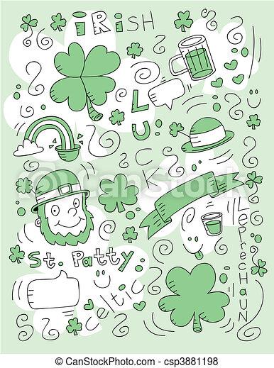 Irish Doodle - csp3881198