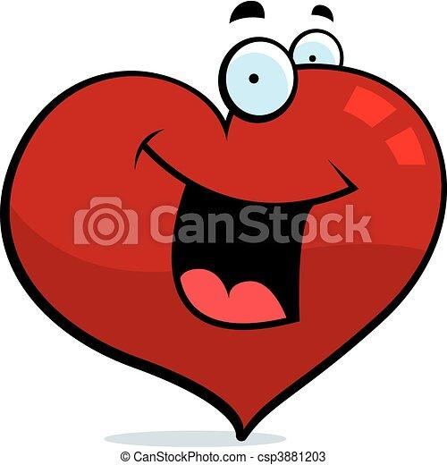 coração, sorrindo - csp3881203