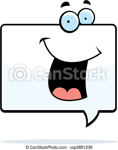 Word Bubble Smiling - csp3881238