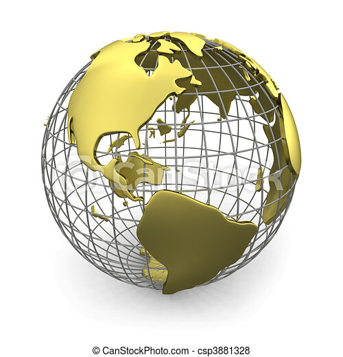 Golden globe, America - csp3881328