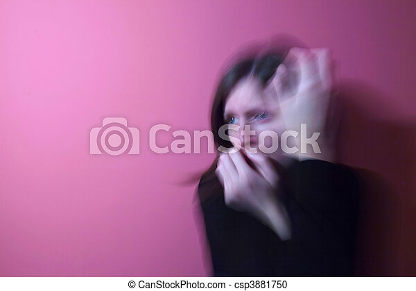 Young woman suffering from a severe depression/anxiety