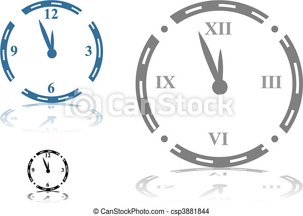 Roman Numeral Clock - csp3881844