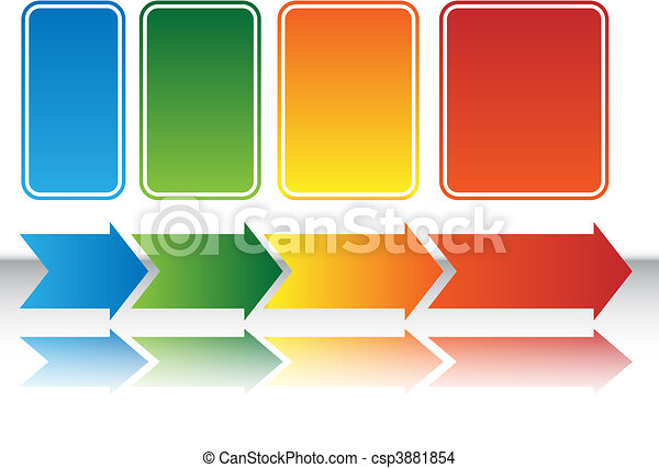 Heat Map Arrow Chart - csp3881854