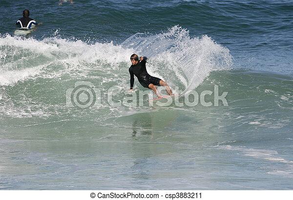 surfing wave - csp3883211