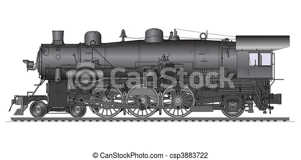 old locomotive - csp3883722