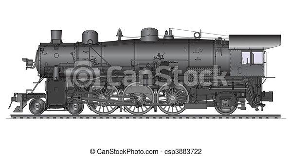 old locomotive - csp3883722