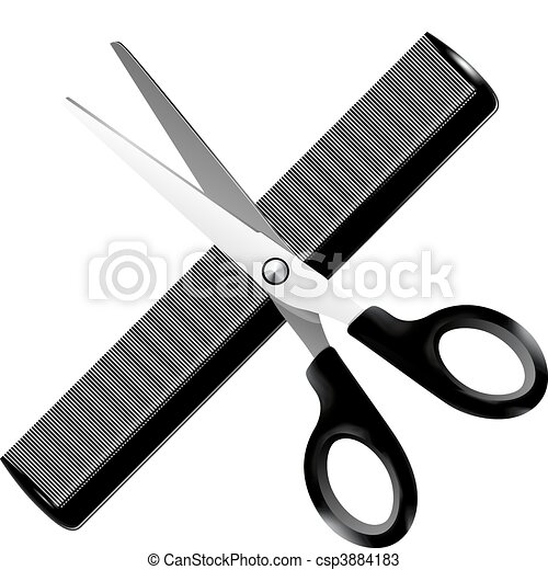 Barber tools - vector illustration - csp3884183