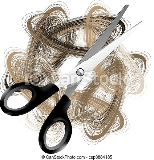 Scissor and hair - csp3884185
