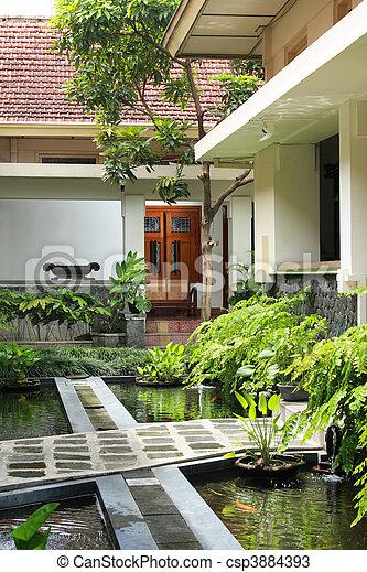 tranquil garden - csp3884393