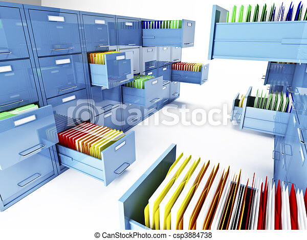 file cabinet 3d - csp3884738