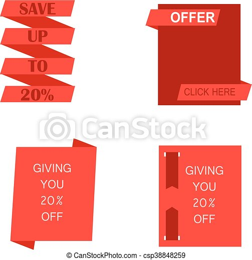 Sales and offer banner - csp38848259