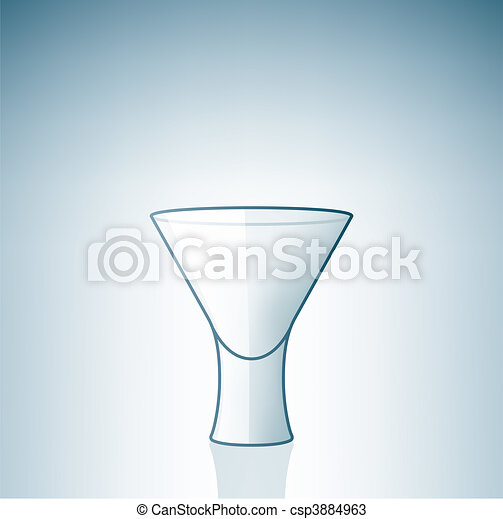 Empty Vodka Shoot Glass - csp3884963
