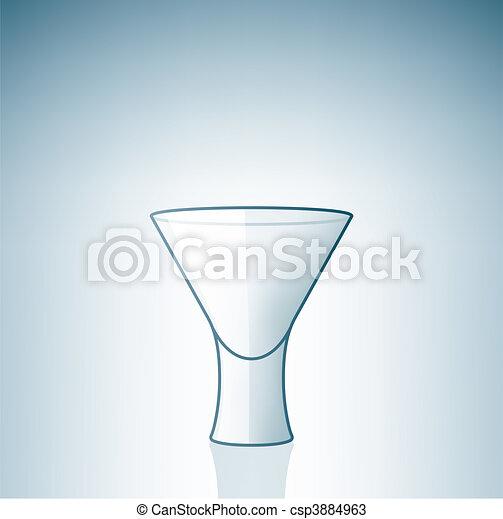 Empty Vodka Shoot Glass - csp3884963