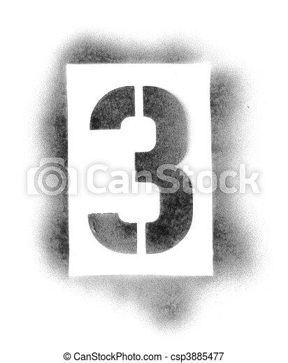 bilder von schablone zahlen spr hen farbe csp3885477 suchen sie stock fotografie fotos. Black Bedroom Furniture Sets. Home Design Ideas
