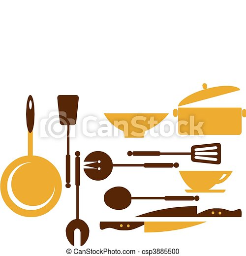 kitchen tools for cooking and frying -1 - csp3885500
