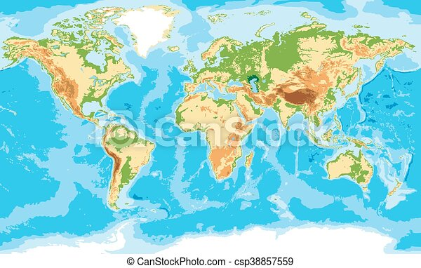 Physical map of the world - csp38857559
