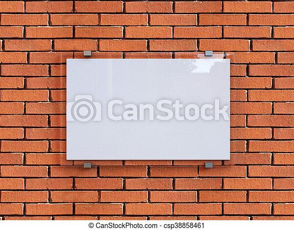 3d rendering blank signs. Blank billboard. Background