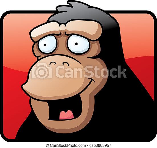 Ape Smiling - csp3885957