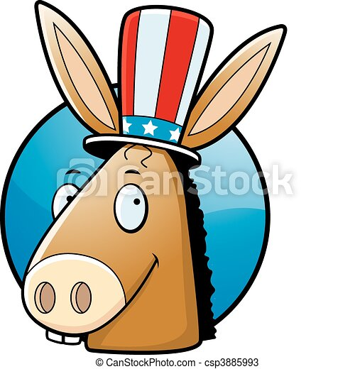 Democrat Donkey - csp3885993