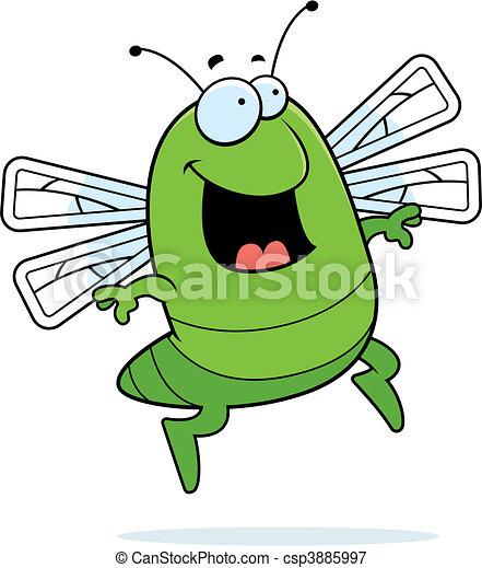 Dragonfly Jumping - csp3885997