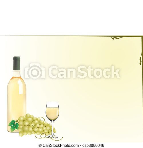 grapes and wine - csp3886046