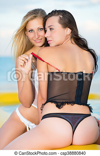Two pretty women - csp38880840
